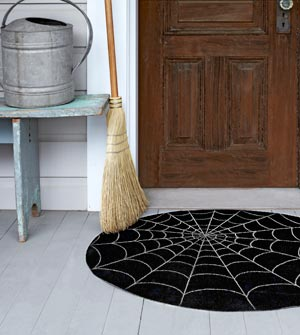 52 Halloween Craft Ideas   Make your own Halloween mat using 1 sq. yard of outdo
