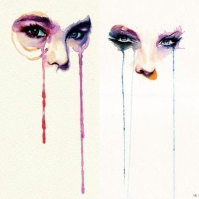 watercolor eyes