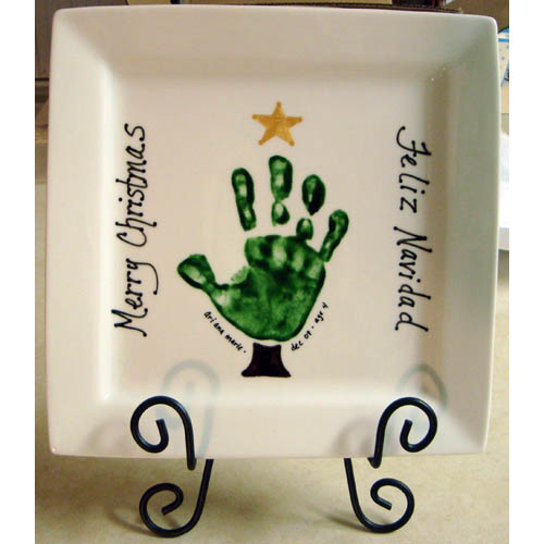 Handprint plates ideas