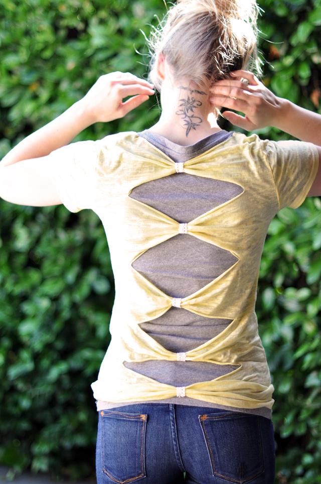 …love Maegan ~ Fashion, DIY, Home, Lifestyle: Easy T-Shirt DIY: Cut Out Back ~