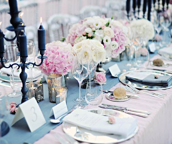 Pink and Gray Wedding Color Palette.
