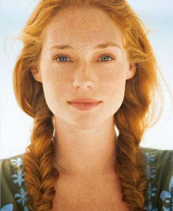 red… when I was younger, I wanted to be a freckled red head with green eyes. l