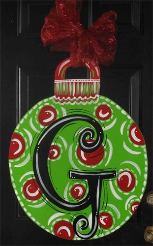 Christmas Ornament Door Hanger Ideas