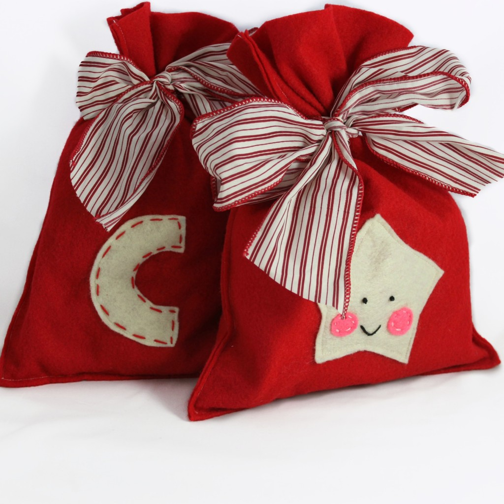 Reusable Felt Holiday Gift Bags – Great alternative to paper and can be made in