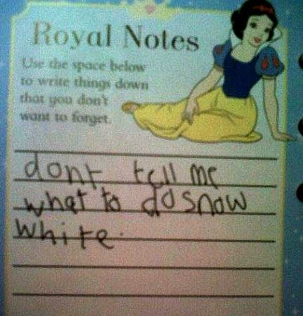 Yeah snow white