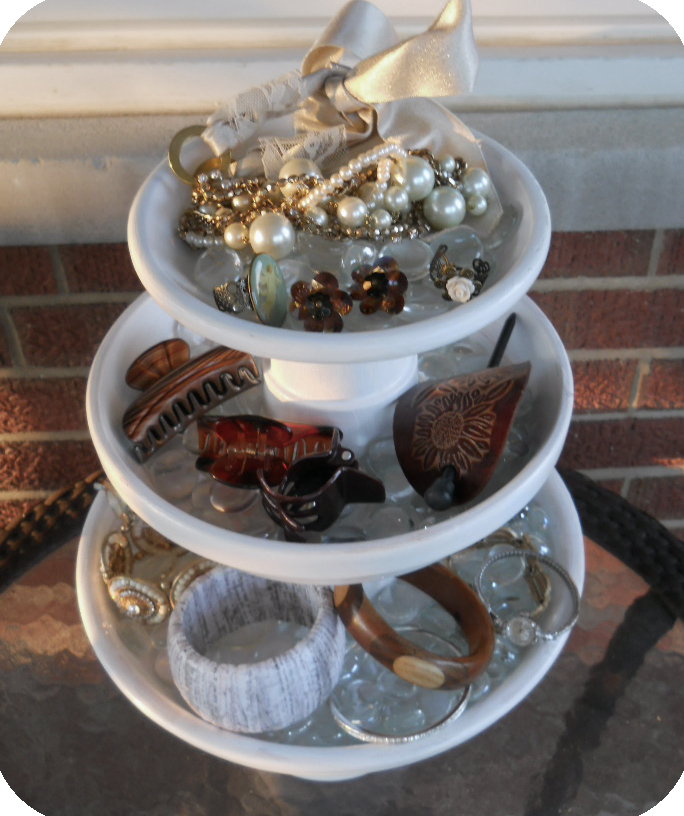 Create this easy and inexpensive DIY Accessory Stand. Or, make it into a cupcake