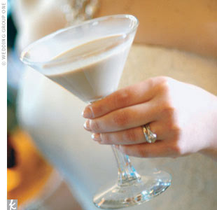winter white wedding martini