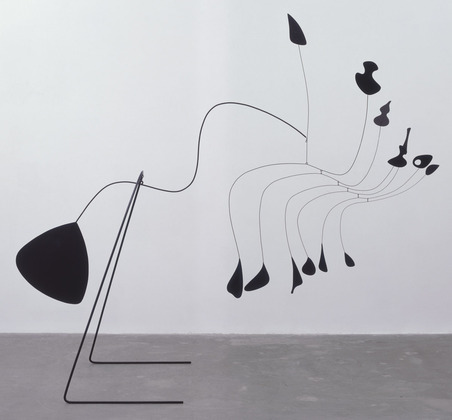 Alexander Calder / Spider / 1939 / standing mobile made of painted sheet aluminu