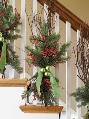 Deck the Banister – 50 Easy Holiday Decorating Ideas