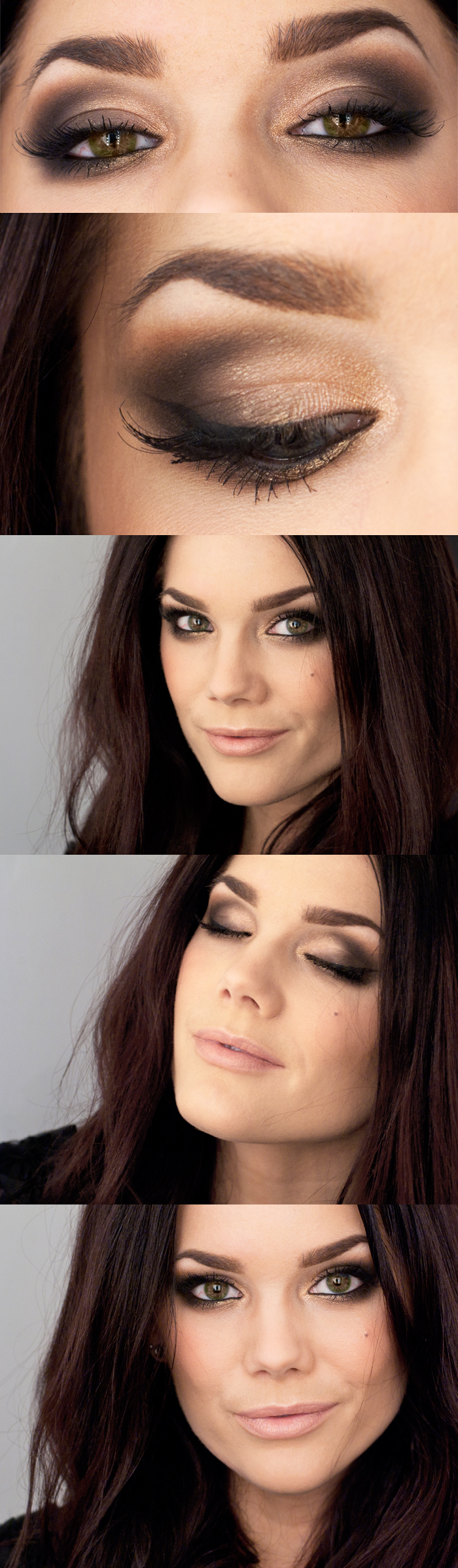 intense smoky eyes