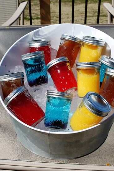 Mason Jar cocktails/party drinks