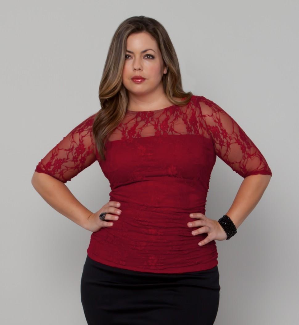 Kiyonna Clothing: Smitten Lace Top #plussize
