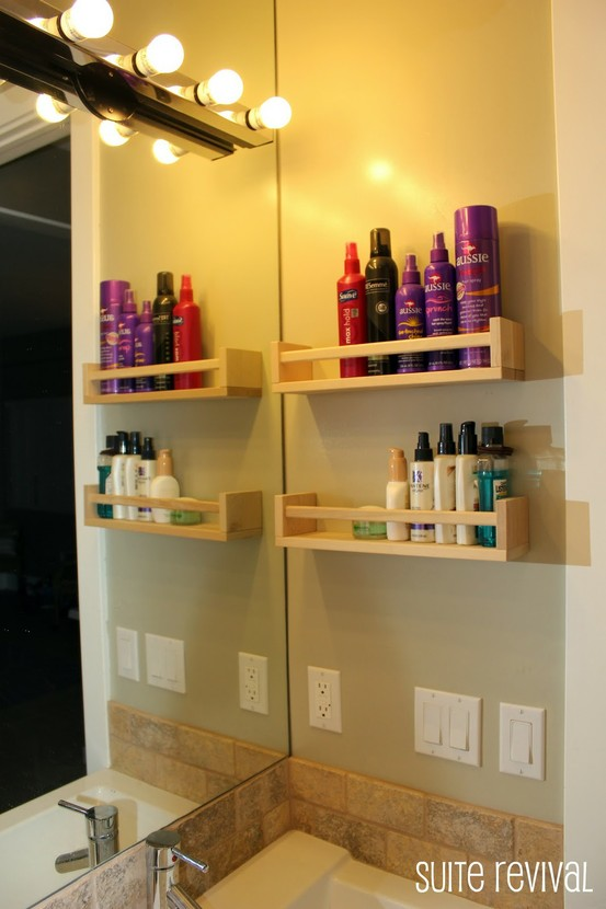 use a spice rack to hold all of your stuff without cluttering the counter. I nee