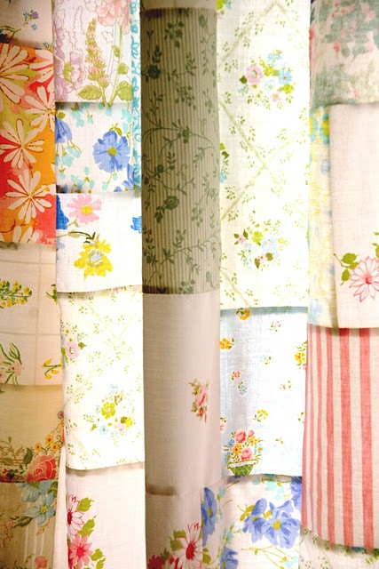 vintage patchwork curtains