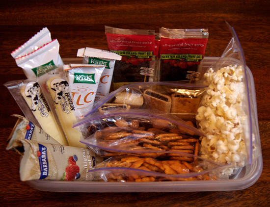 Create a healthy snack station and always keep it stocked in your fridge and/or