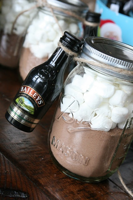 Hot chocolate mix for grown-ups – great Christmas gift for co-workers or neighbo