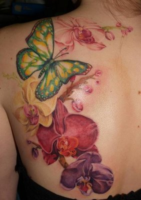 Orchid tattoo – for hip