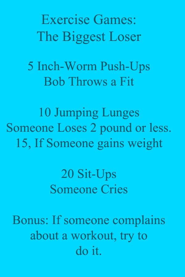 Biggest Loser Exercise Game