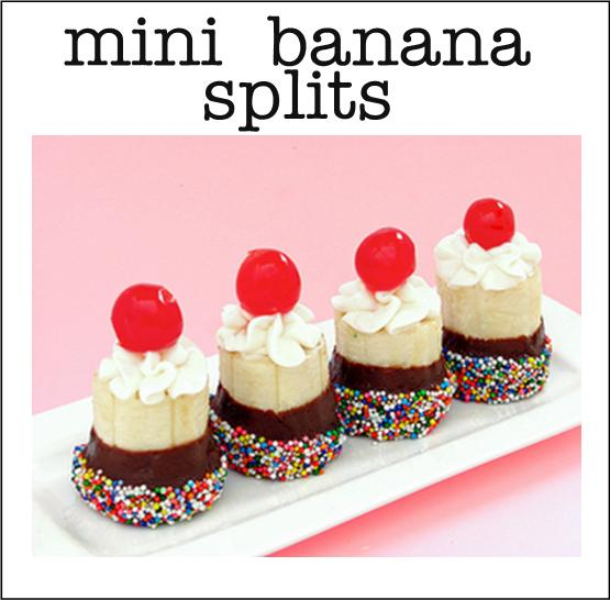 Cute ideas for easy finger food desserts