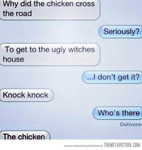 Ahahaha. Double joke…