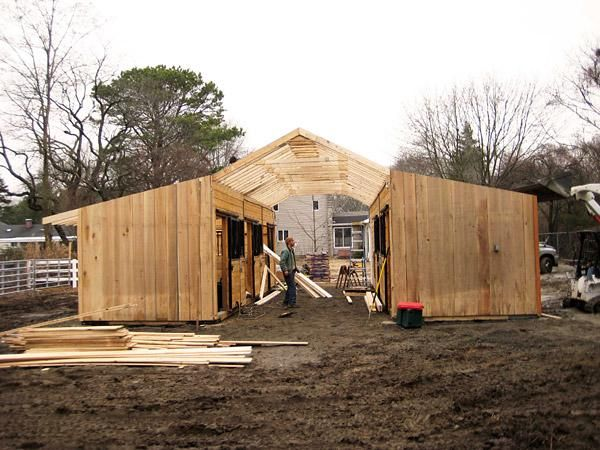 How to build a horse barn on a budget