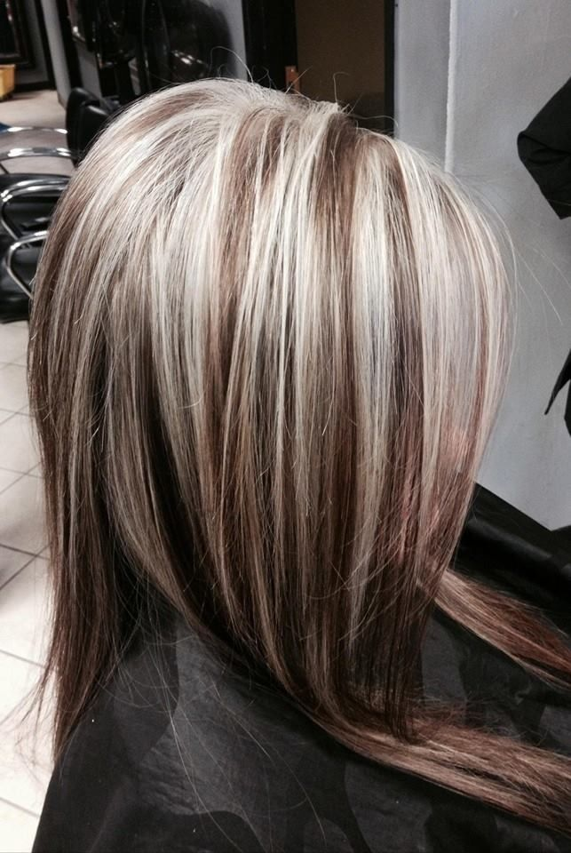 Blonde hair with dark highlights ideas