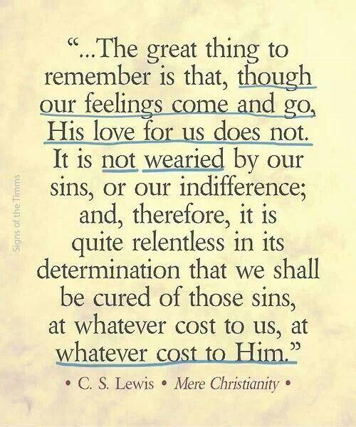 His love endures…