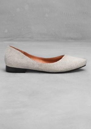 Asymmetric Ballerina Flats