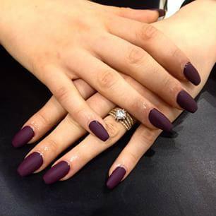 acrylic nail designs plum