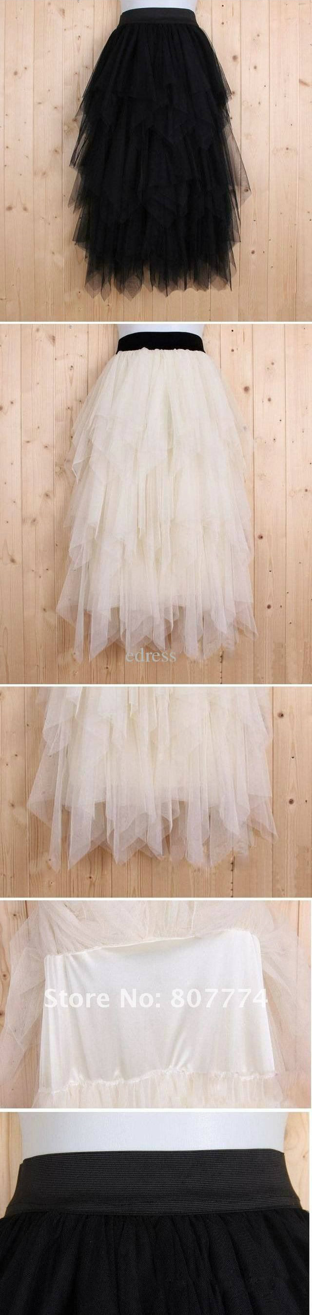 Women tulle skirt long ball skirt black/apricot skirt promotion