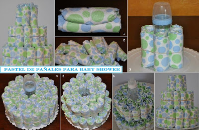 Few way how use diapers at s baby shower.