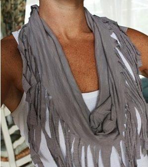 Fringe scarf.