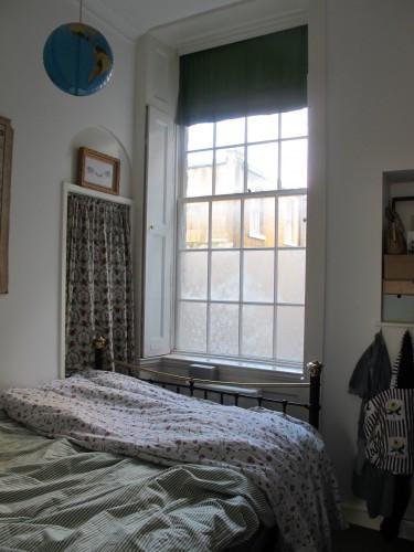 Lace cornstarch window treatment