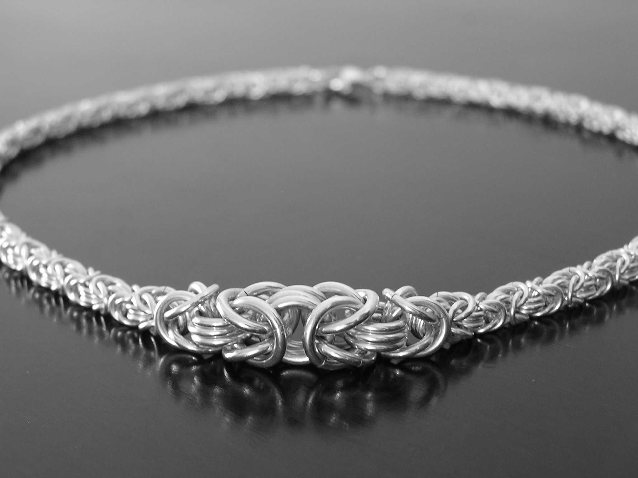 Cool chainmaille jewelry.