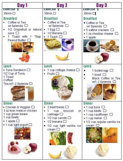 3 day diet checklist