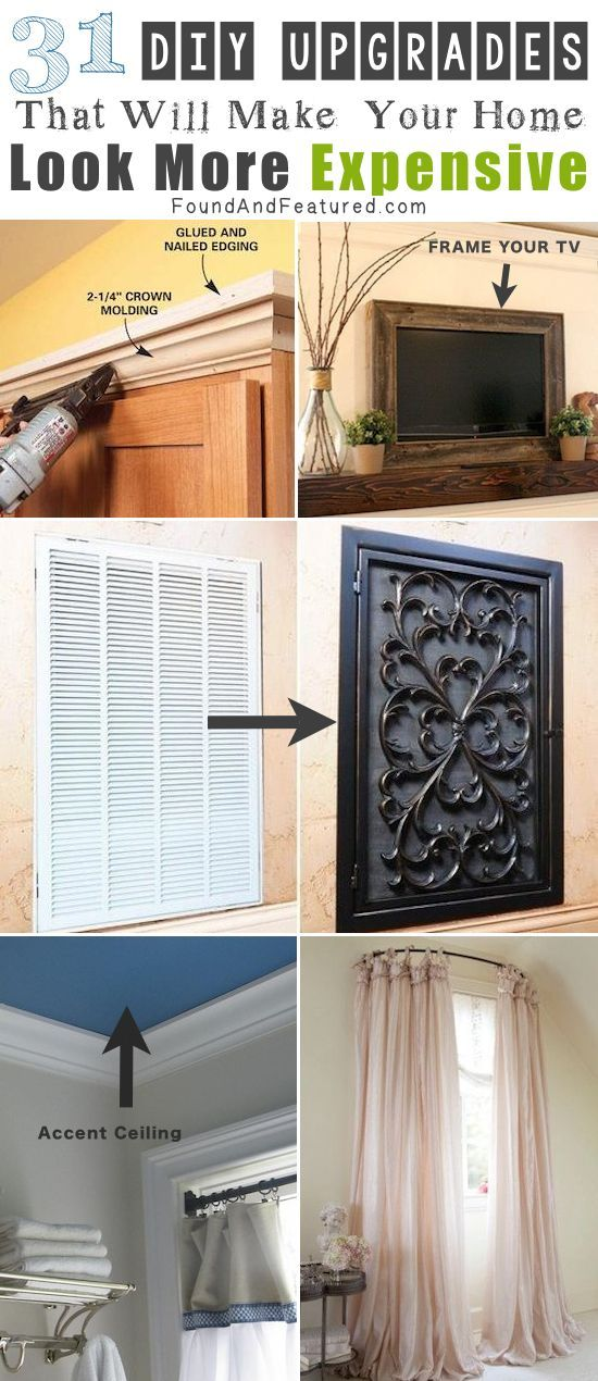 DIY, cheap and easy ways to make your home look  more expensive…