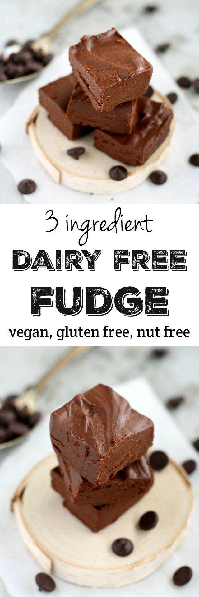 3 Ingredient Dairy Free Fudge