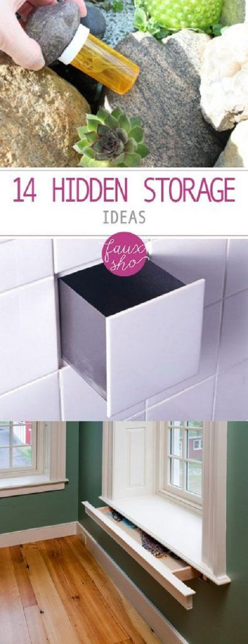 Here are 14 ways to cleverly hide things around the home.