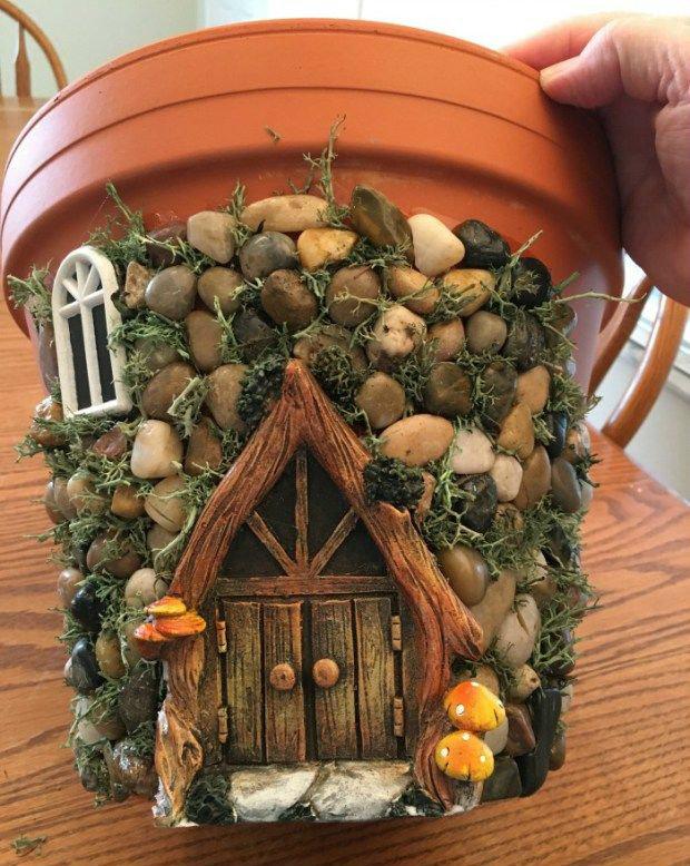 DIY fairy house planter