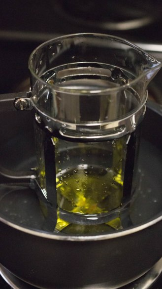 Making weed olive oil using a french coffeepress