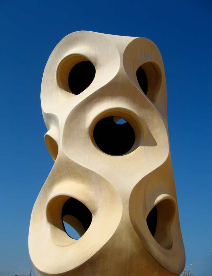 Casa Mila's roof terrace features some amazing chimneys and ventilation towers.