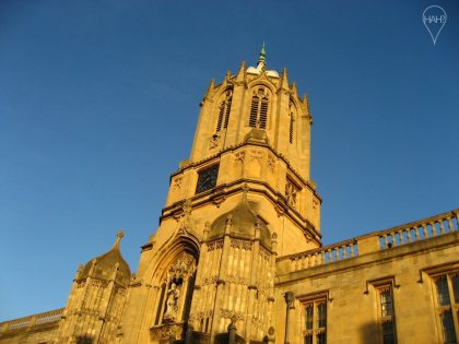 Christ Church Oxford is one of the most prestigious colleges and the location for many scenes in the Harry Potter films.