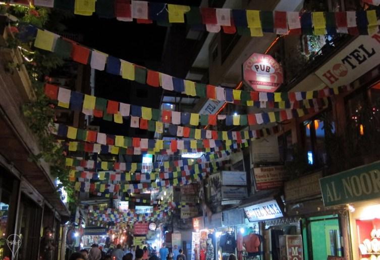 Thamel street in full colour