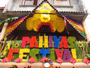 The festival's name is a popular focal point iin the house designs