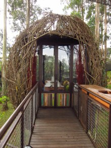Lutung Kasarung, dining pods in egg-shaped bird's nests