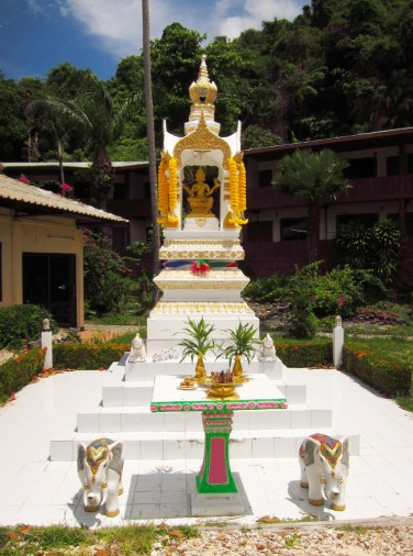 Koh Ngai Resort spirit house, an essential for every Thai building