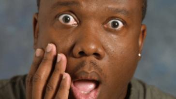 shocked black man