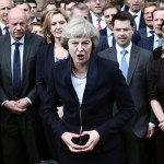 Prime Minister Theresa May uses illuminati signal