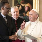 President Paul Kagame and Pope France
