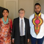 15 Years Old Nigerian Activist, Zuriel Oduwole Speaks Alongside Bill Gates & Ndada Mandela In Paris